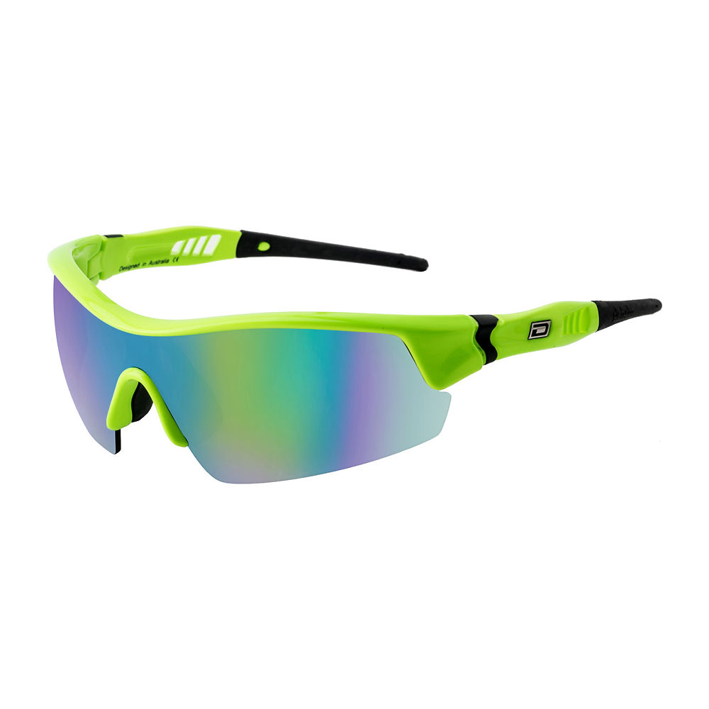 Image of Lunettes de soleil Dirty Dog Edge Sports - Fluro Green/Green Mirror Lens