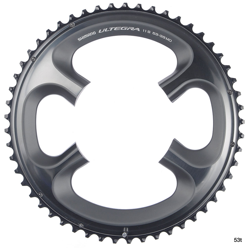 Shimano Ultegra FC6800 11sp Double Chainrings - Grey - 110mm, Grey