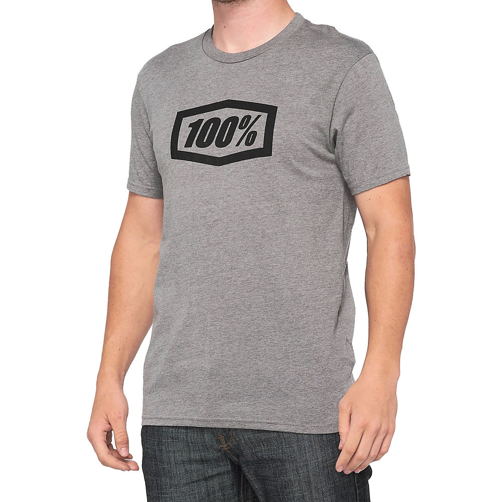 100% Essential Tee  - Gunmetal Heather - Xxl  Gunmetal Heather