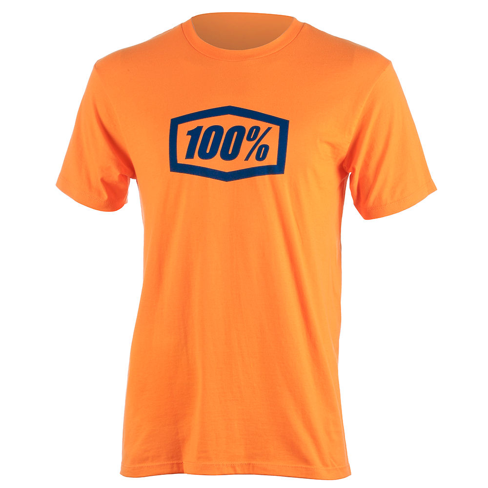 100% Essential Tee  - Orange - M, Orange