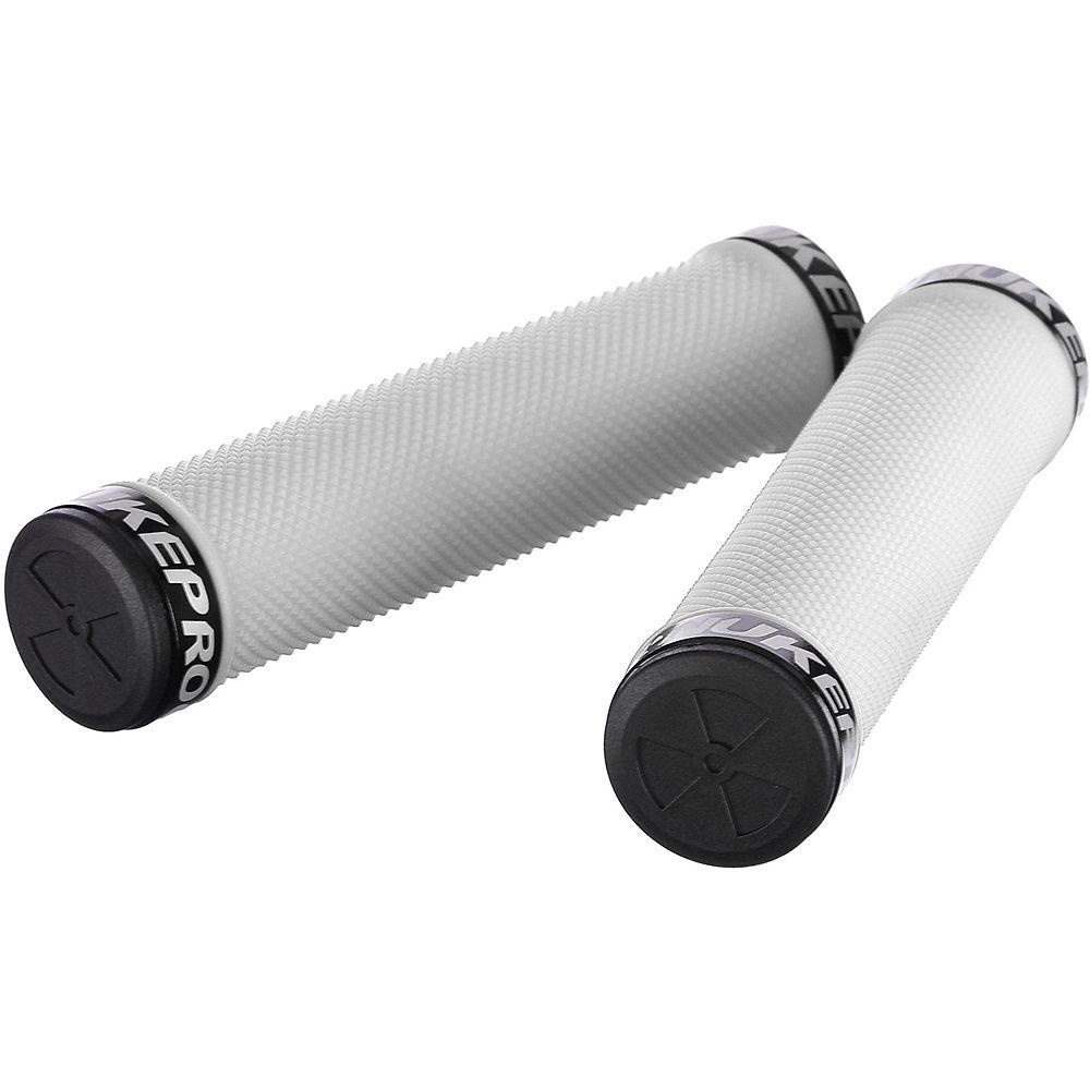 Nukeproof Neutron Knurled Lock On Grips - White - 142mm  White