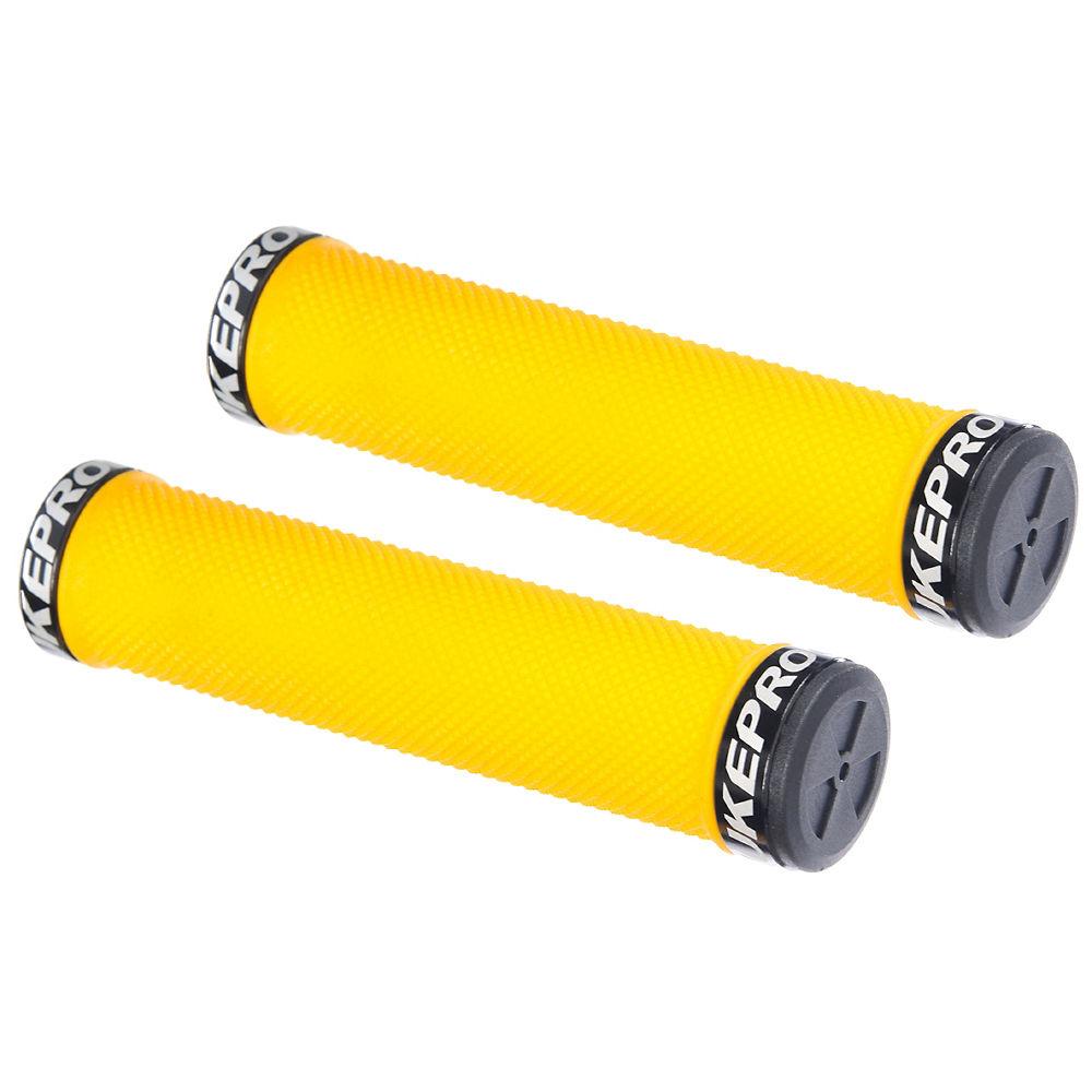 Nukeproof Neutron Knurled Lock On Grips - Yellow - 142mm  Yellow