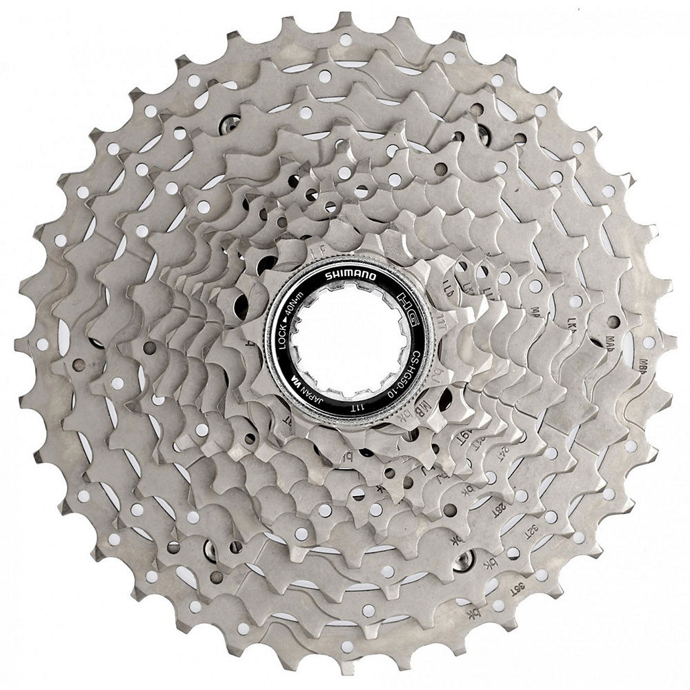 Shimano Deore HG50 10 Speed MTB Cassette - Silver - 11-36t, Silver