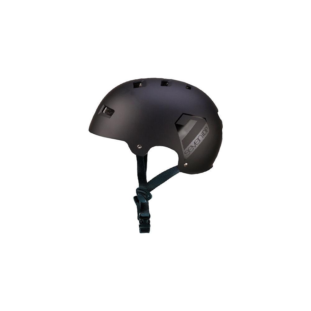 7 iDP M3 Dirt Lid - Matt Black-Gloss Black - L/XL/XXL, Matt Black-Gloss Black