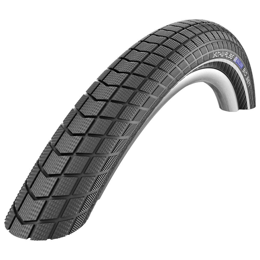 Schwalbe Big Ben MTB Tyre (RaceGuard) - Black - Reflex - Wire Bead, Black - Reflex