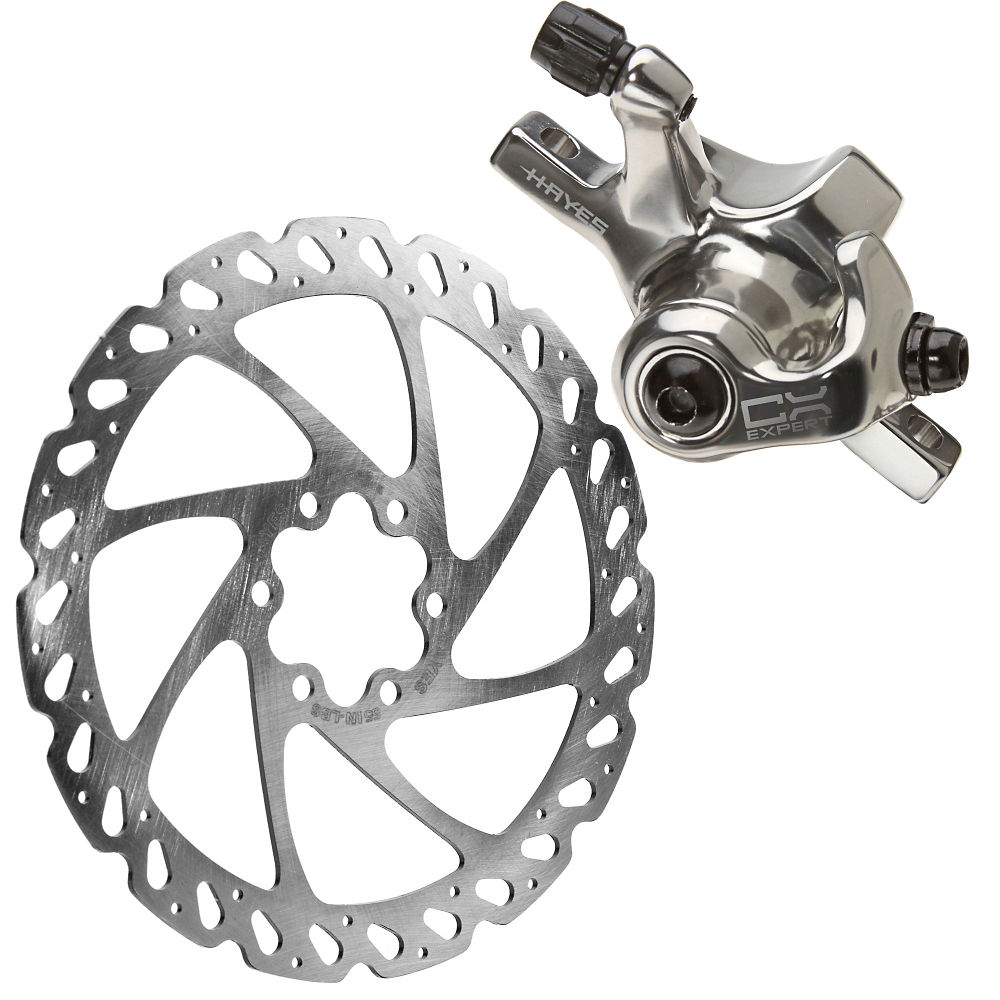 Image of Freins à disque VTT Hayes CX Expert + rotor 160mm - Argent - Front or Rear, Argent