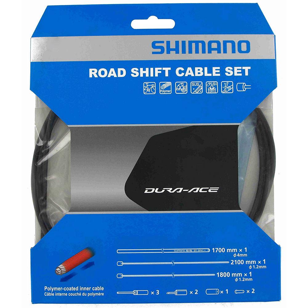 Shimano Dura-Ace 9000 Road Gear Cable Set - Black, Black
