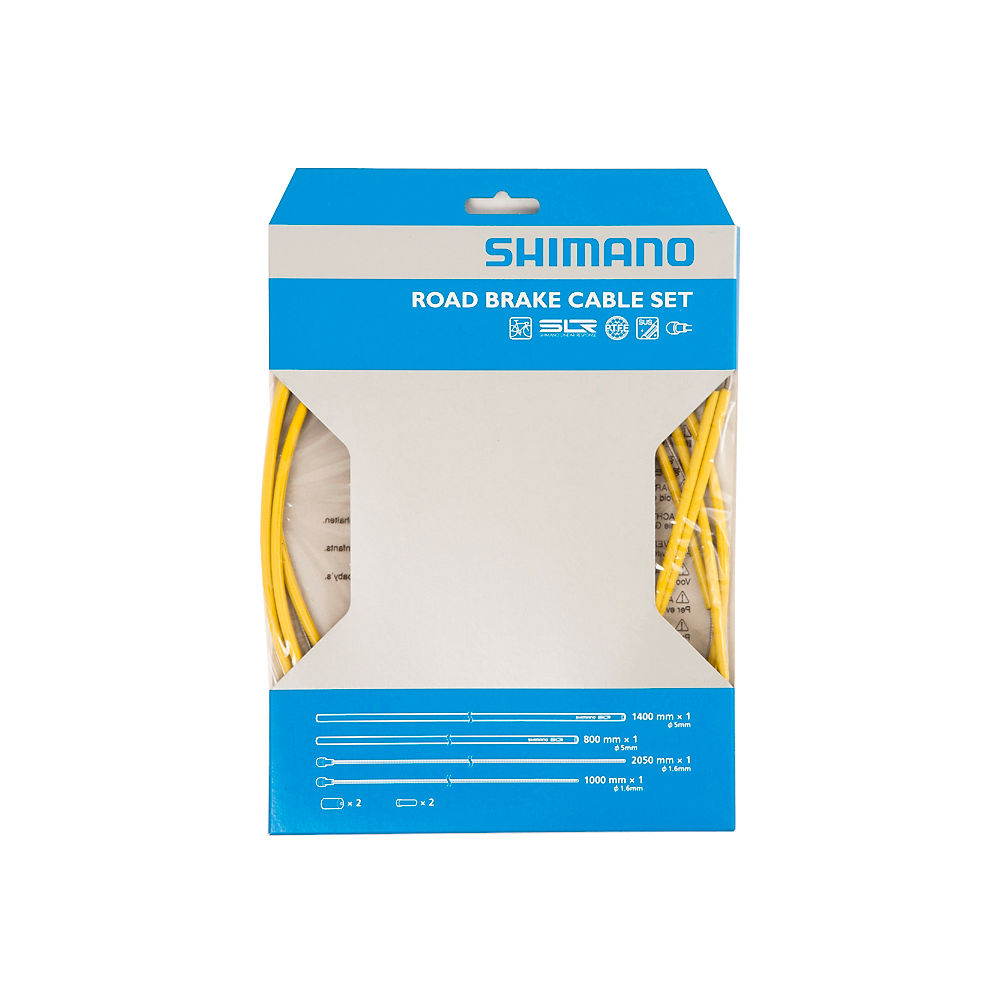 Shimano SIL-TEC PTFE Road Brake Cable Set - Yellow, Yellow