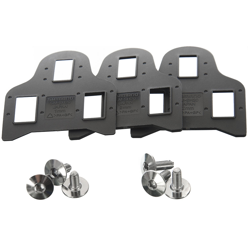 Shimano SM-SH20 SPD-SL Cleat Spacers - Black, Black