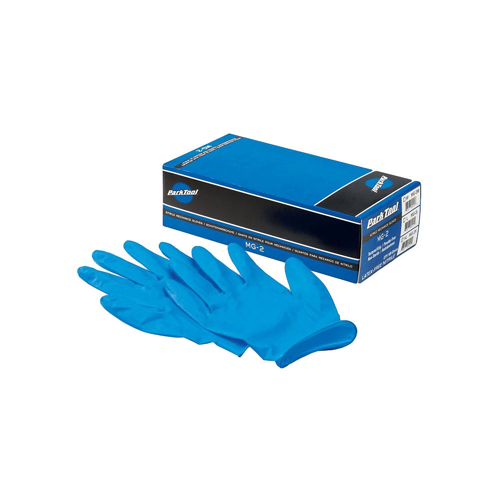 Guantes de nitrilo de mecánico Park Tool Nitrile (MG-2) - Azul - XLarge, Azul