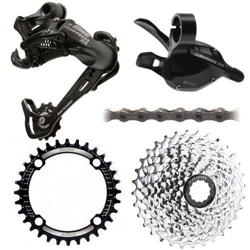 0d5c3c25ed2 SRAM X5 1x10 Speed Drivetrain Bundle | Chain Reaction Cycles