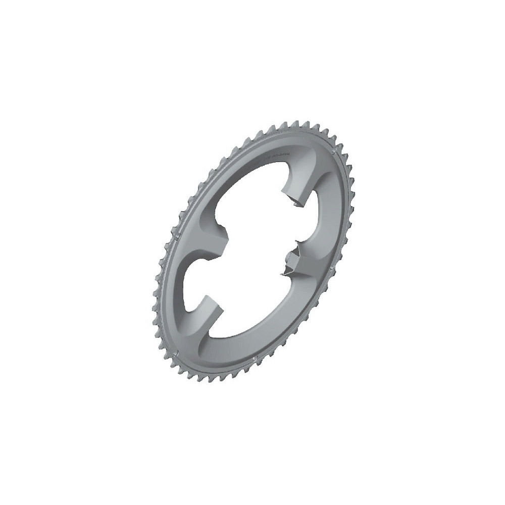 Shimano 105 FC5800 11sp Double Road Chainrings - Silver - 110mm, Silver