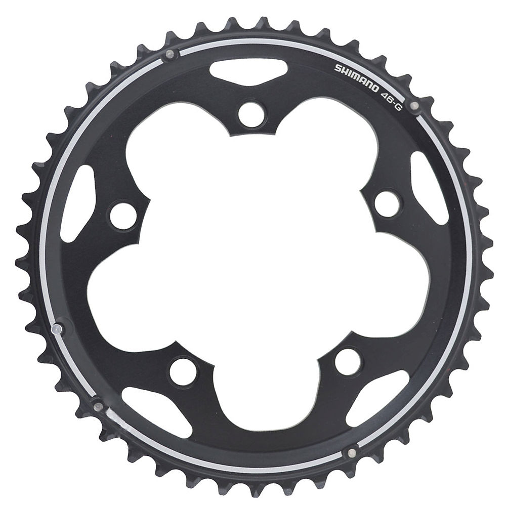 Shimano 105 FCCX50 10 Speed Double Chainrings - Black - 110mm, Black