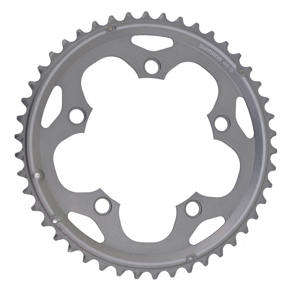 Shimano 105 FCCX50 10 Speed Double Chainrings - Silver - 110mm, Silver