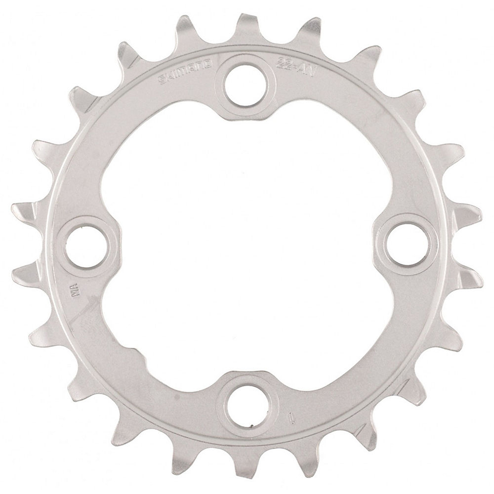 Shimano XT FCM782 10 Speed Triple Chainring - Silver - 4-Bolt, Silver