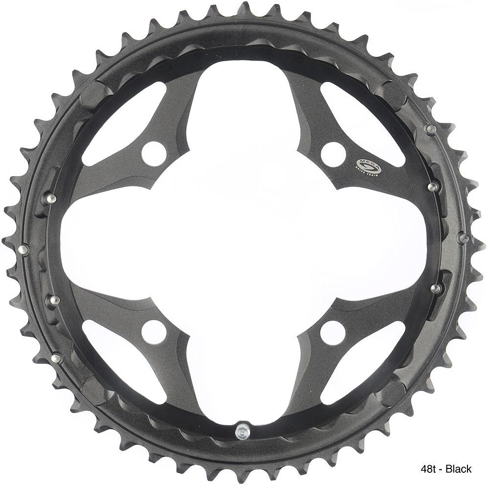 Shimano SLX FCM660 9 Speed Triple Chainrings - Black - 4-Bolt, Black