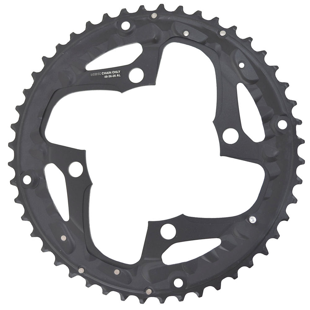 Shimano Deore Fcm610 10 Speed Triple Chainrings - Black - Chain Guard Type  Black
