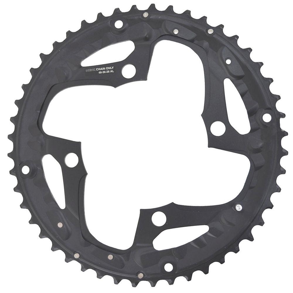 Shimano Deore Fcm610 10 Speed Triple Chainrings - Black - Standard Type  Black
