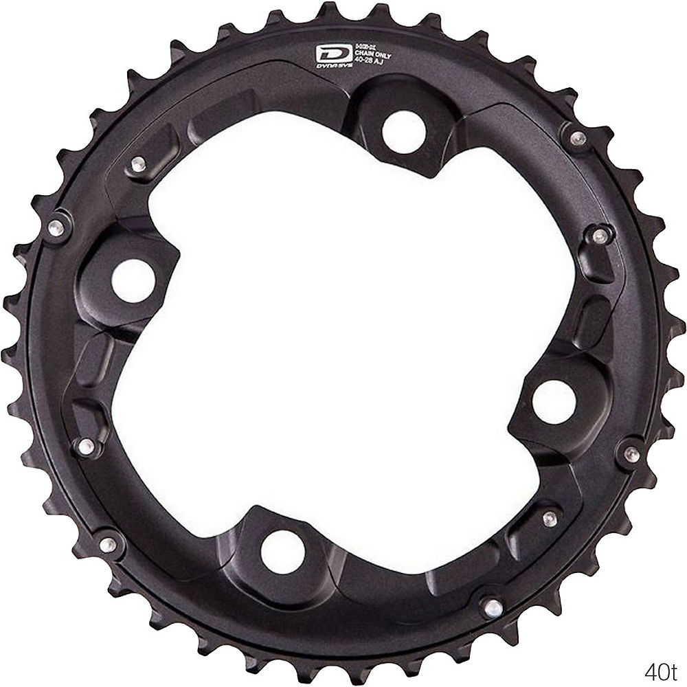 Shimano Deore FCM670 10 Speed Triple Chainring - Black - 4-Bolt, Black