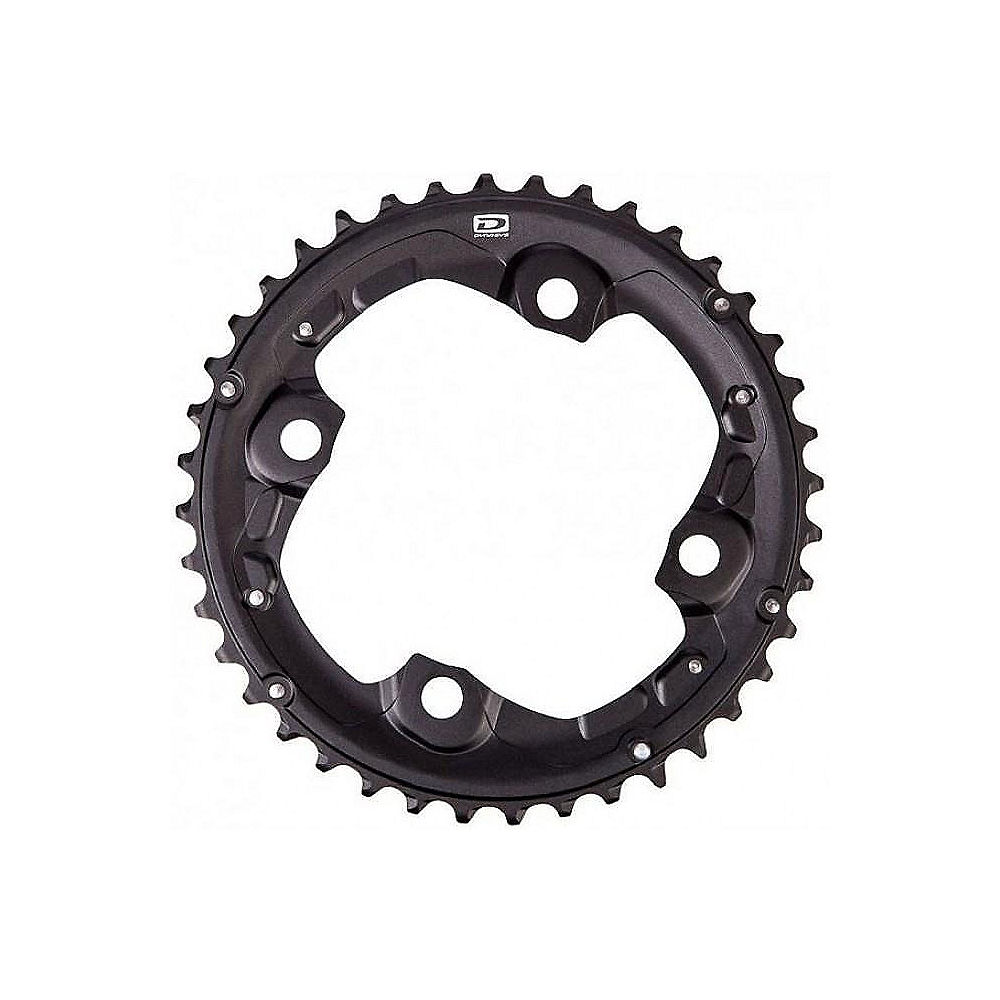 Shimano Deore FCM615 10 Speed Double Chainrings - Black - AK Type - For 38.26t, Black