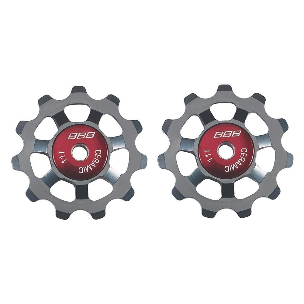 Bbb Aluboys Ceramic Jockey Wheels - Grey  Grey
