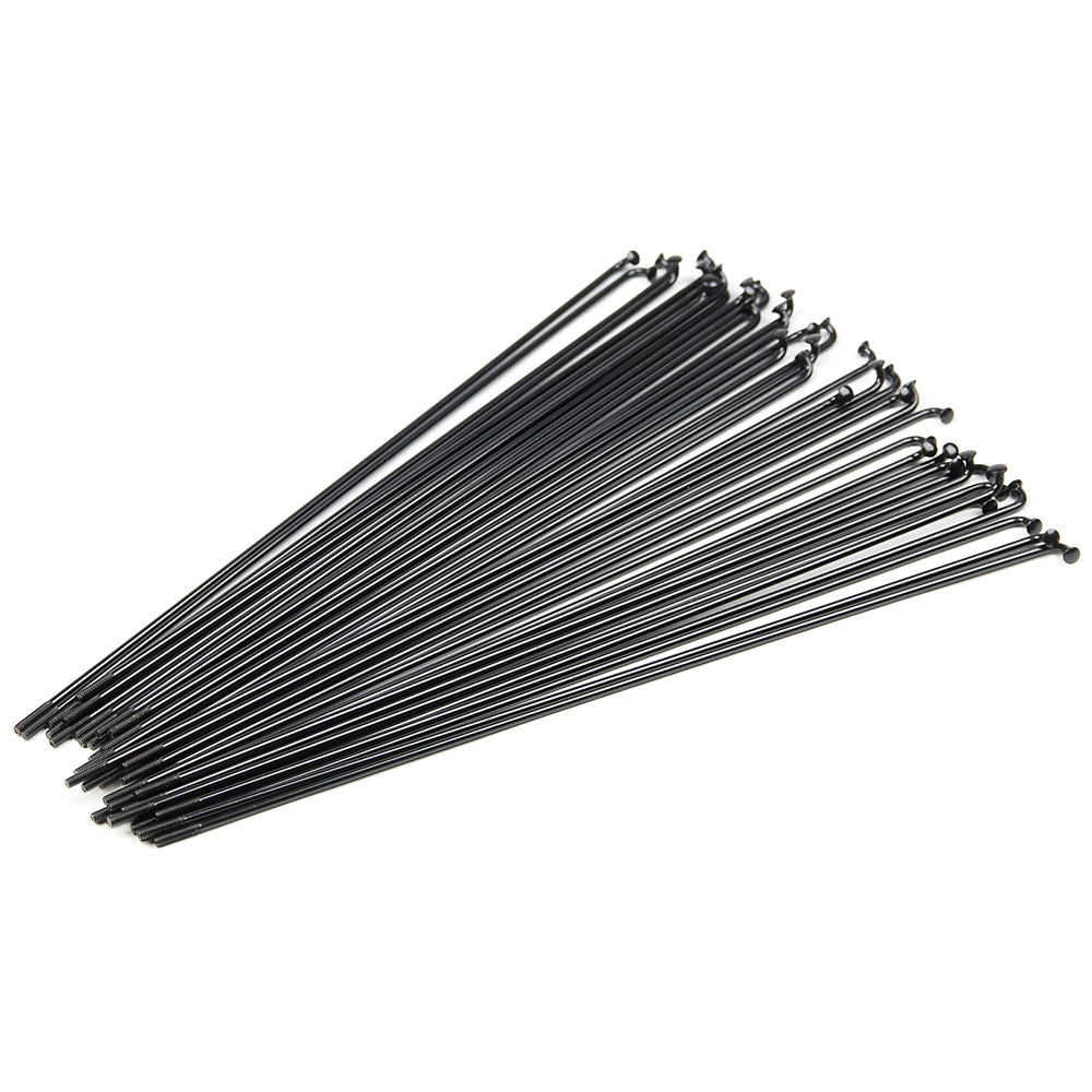 Blank Double-butted Bmx Spokes - Black  Black