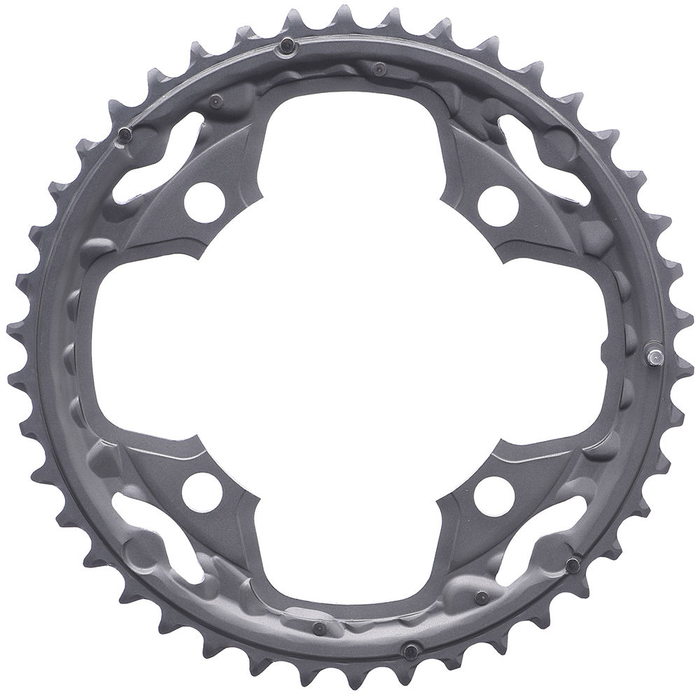 Shimano Deore FCM590 10 Speed Triple Chainrings - Silver - 4-Bolt, Silver