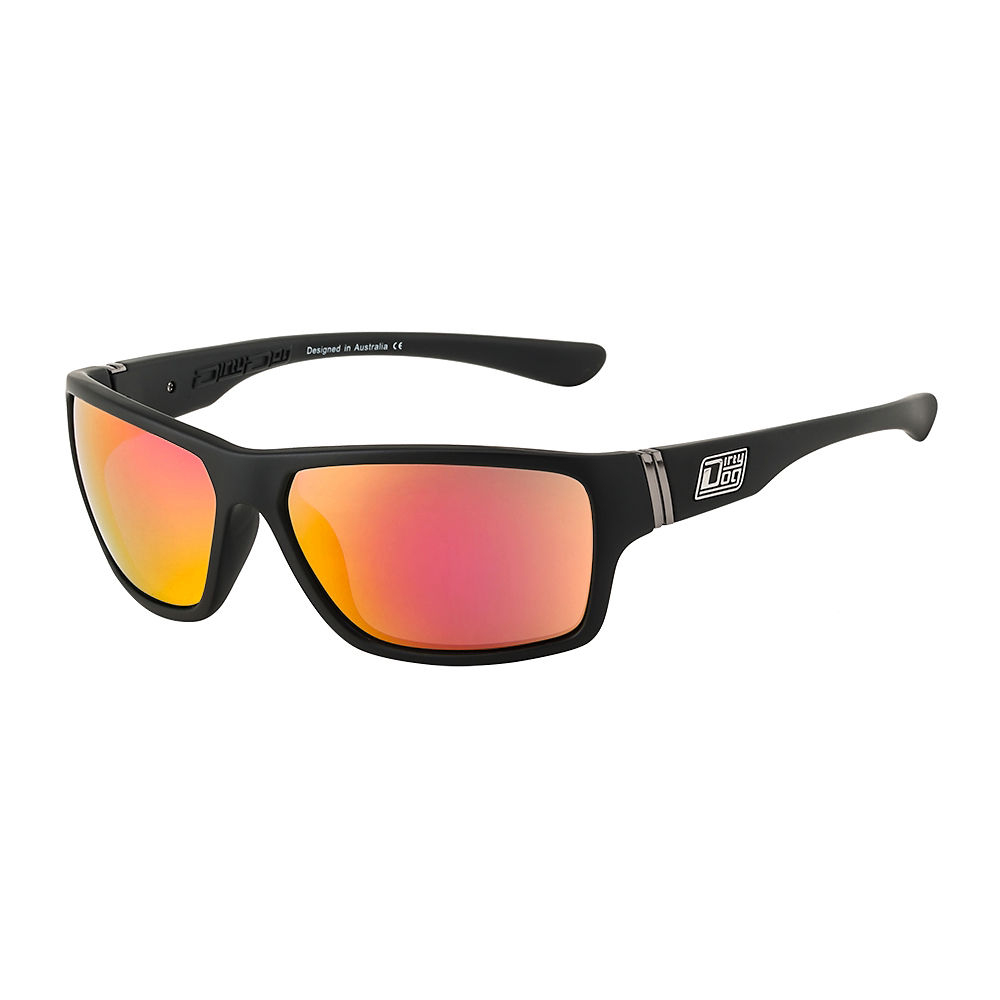 Image of Lunettes de soleil Dirty Dog Storm - Satin Black - Red Fusion Lens