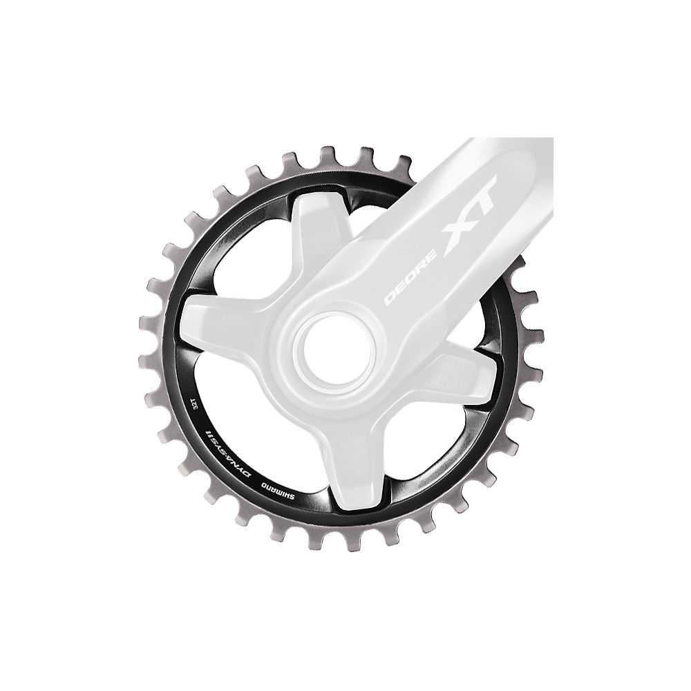 Shimano XT M8000 Single Chainring - Black - 4-Bolt, Black