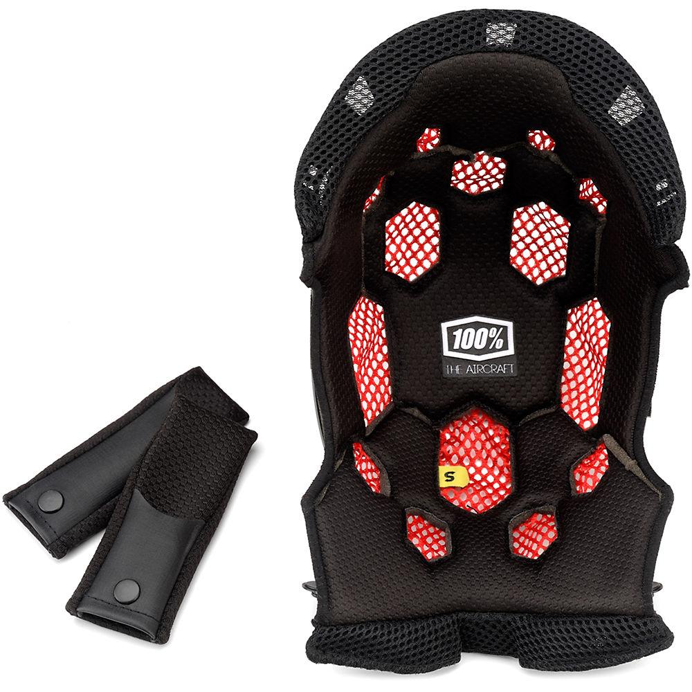 100% Aircraft Comfort Liner Kit - Black - S  Black