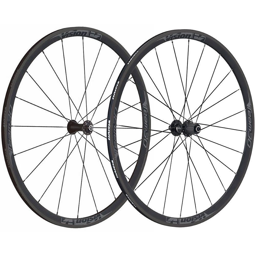 Vision Team 30 Clincher Road Wheelset - Black - Grey - Qr 100mm X 9mm / Qr 130mm X 9mm  Black - Grey
