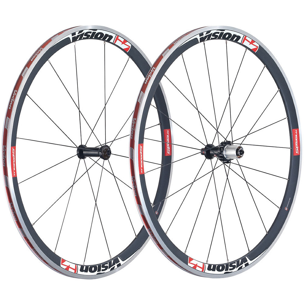 Vision Trimax 35 Wheelset 2017 - Black - Campag Freehub  Black
