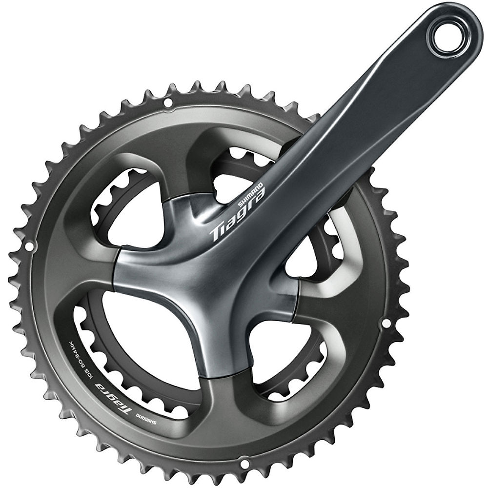 Shimano Tiagra 4700 10sp Road Double Chainset - Black - 110mm, Black