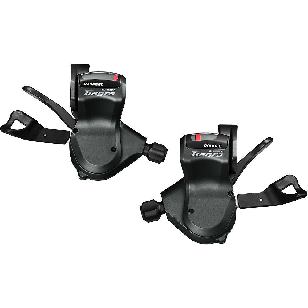 Shimano Tiagra 4700 2x10sp Flat Bar Shifter Set - Black - Pair, Black