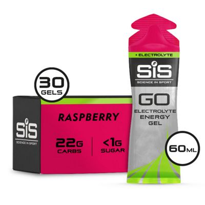 Geles energéticos + electrolitos Science In Sport Go (30 x 60 ml)