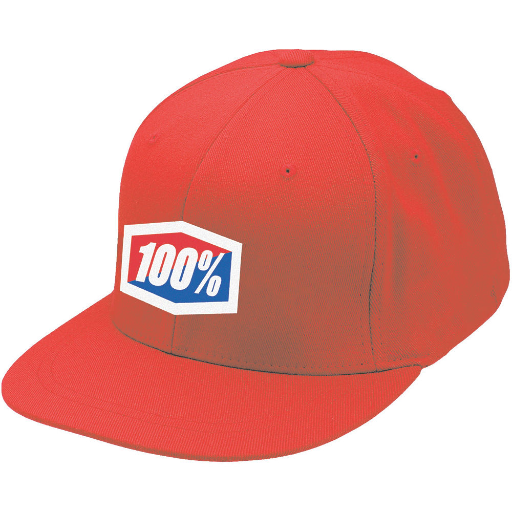 100% Essential Hat  - Red - S/M, Red