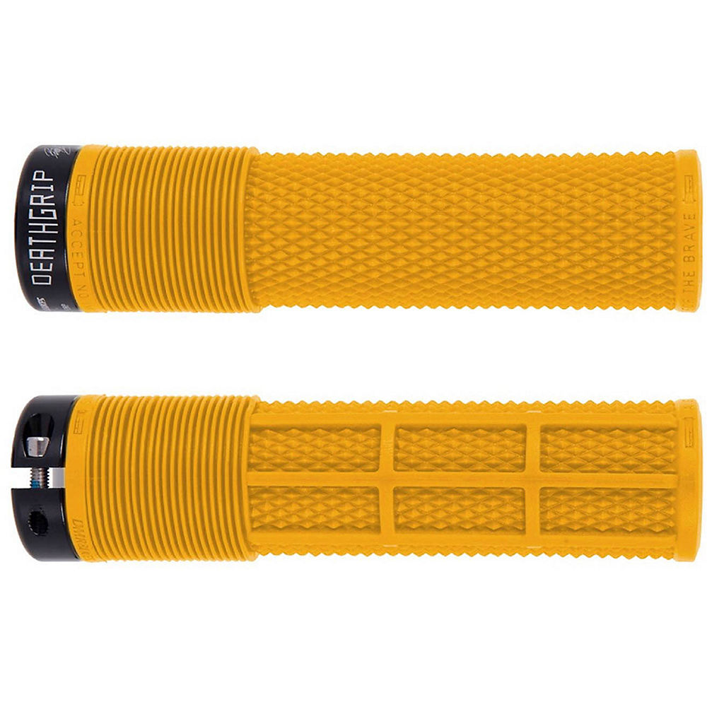 DMR Brendog Death Grip MTB Grips - Gul Yellow - 135mm, Gul Yellow