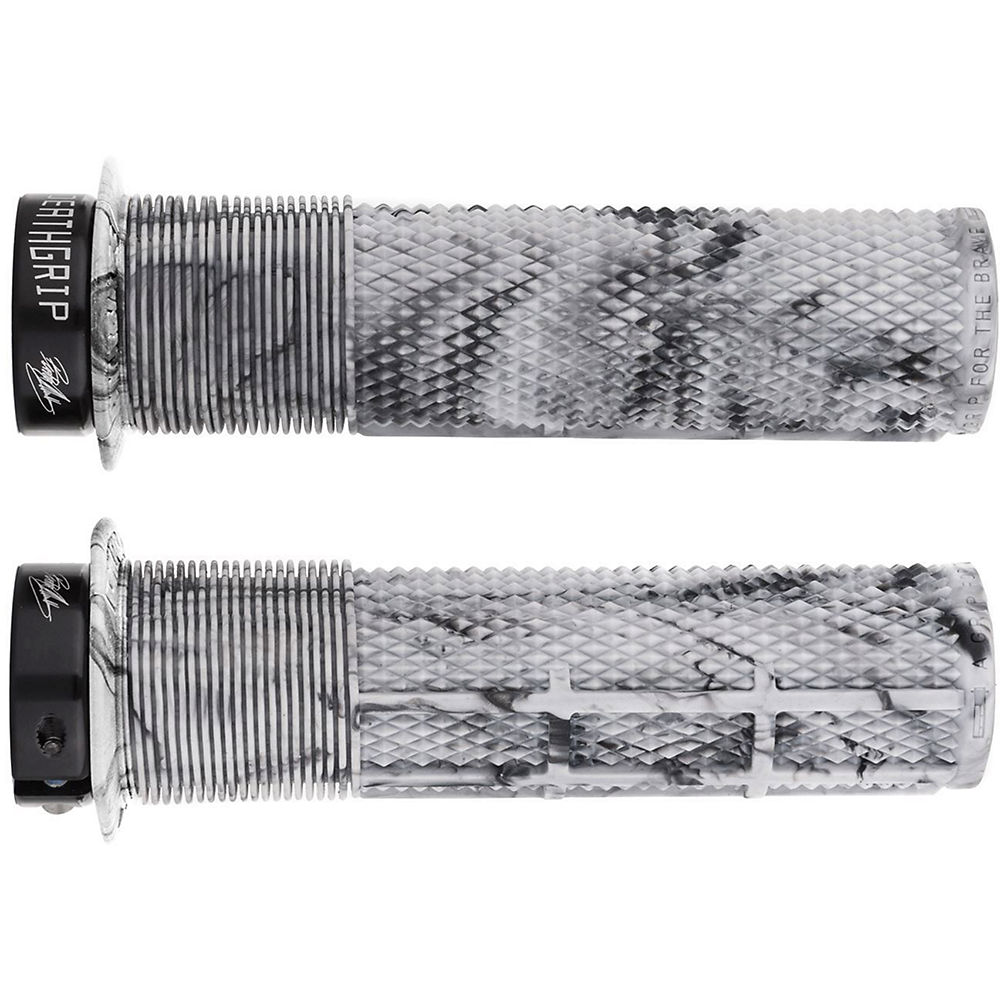 DMR Brendog Death Grip MTB Grips - Snow Camo - 135mm, Snow Camo