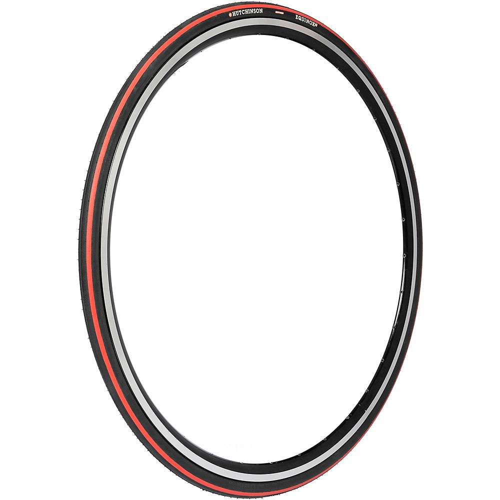 Image of Hutchinson Equinox 2 Road Tyre - Folding Bead - Black - Red, Black - Red