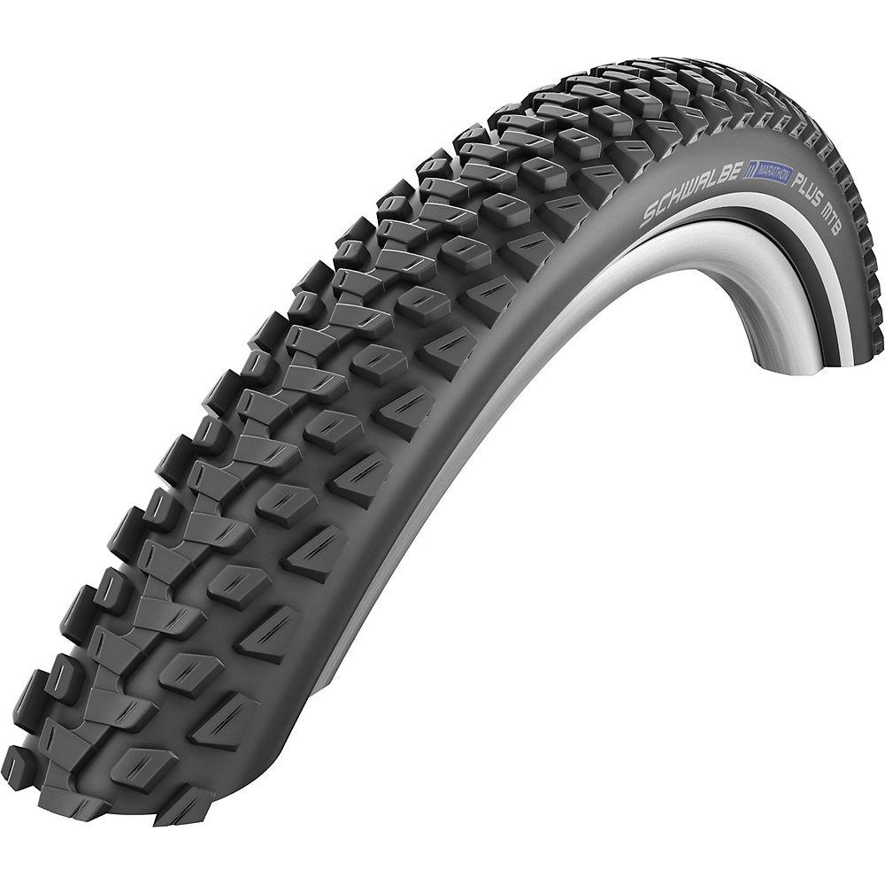 Schwalbe Marathon Plus Bike Tyre (SmartGuard) - Black - Reflex - Wire Bead, Black - Reflex