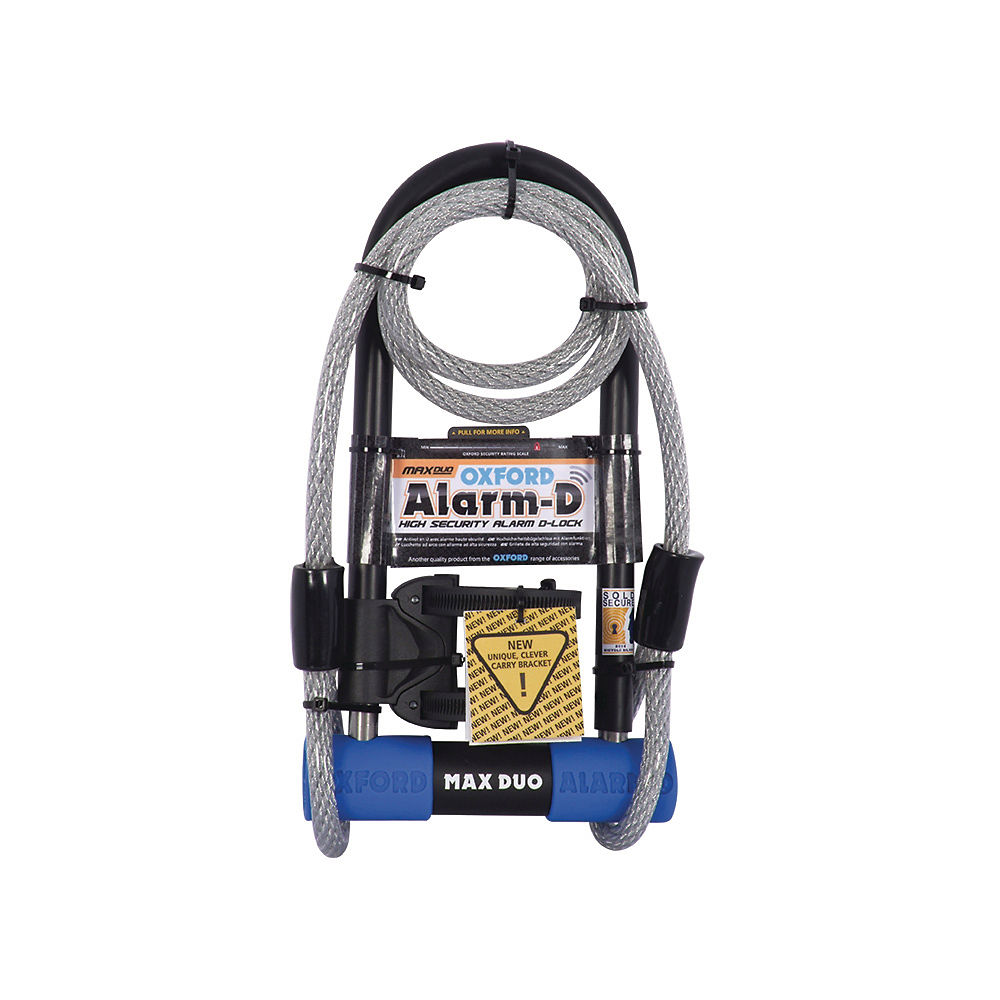 Image of Antivol Oxford Alarm D-Max Duo - Bleu - Sold Secure Silver Rated, Bleu