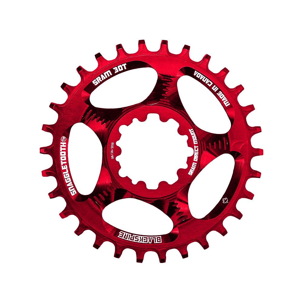 Blackspire Snaggletooth Narrow Wide Sram Chainring - Red - Direct Mount  Red
