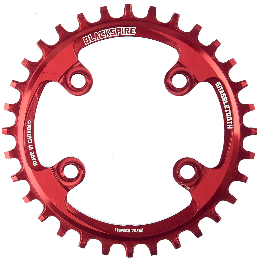 Blackspire Snaggletooth Narrow Wide Chainring (xx1) - Red - 4-bolt  Red