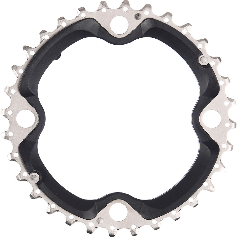 Shimano FCT521 10 Speed Triple Chainrings - Black - Standard Type, Black