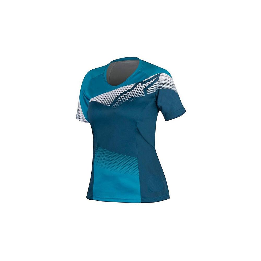 Al Womens Prime Retro Tile Ss Jersey - Black-blue  Black-blue