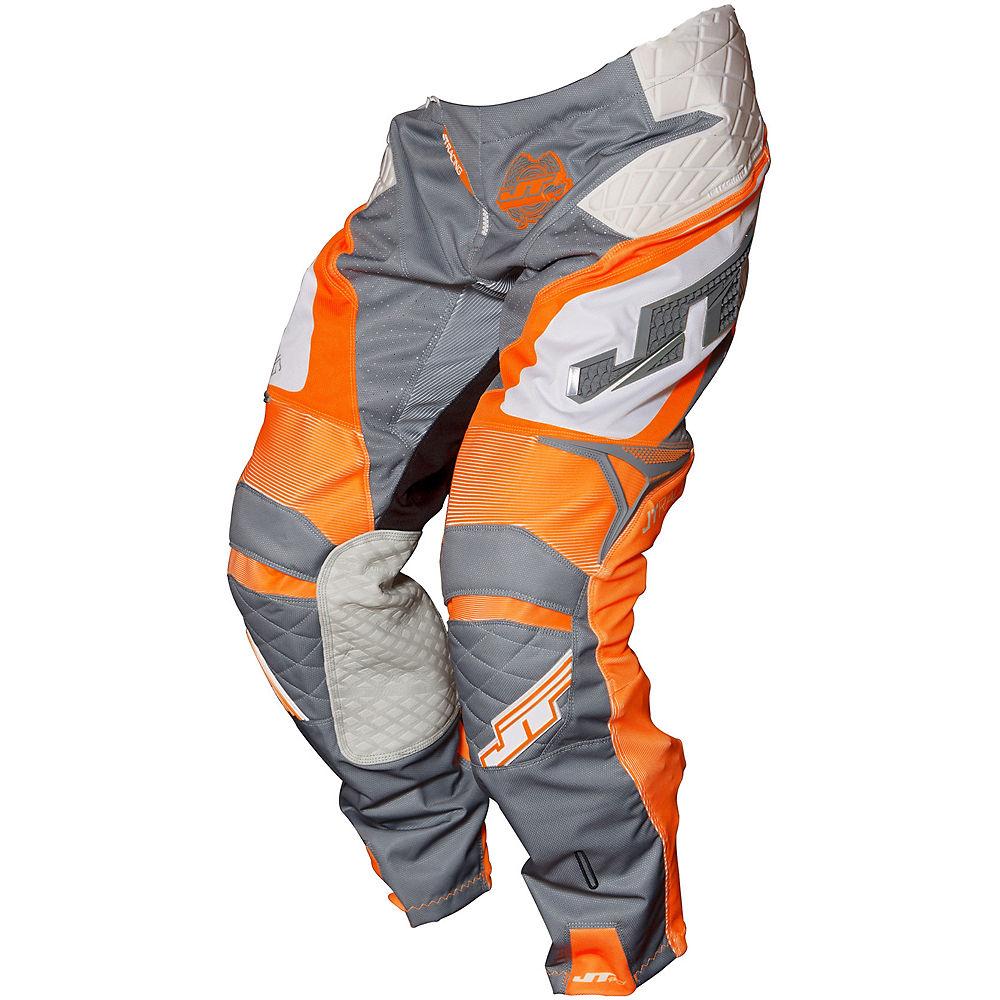 """Image of Pantalon JT Racing Protek Trophy 2017 - Gris - Orange - Blanc - 28"""", Gris - Orange - Blanc"""
