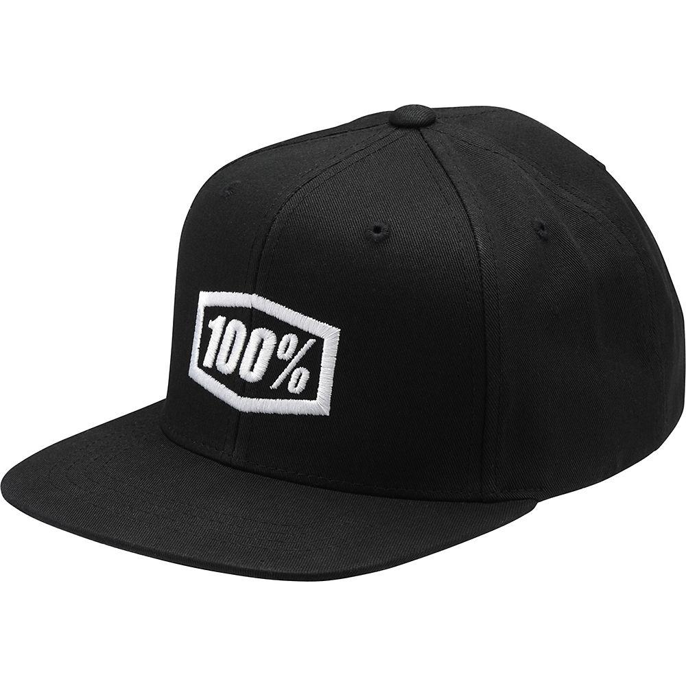 100% Corpo Classic SnapBack Youth Hat  - Black - White - One Size, Black - White