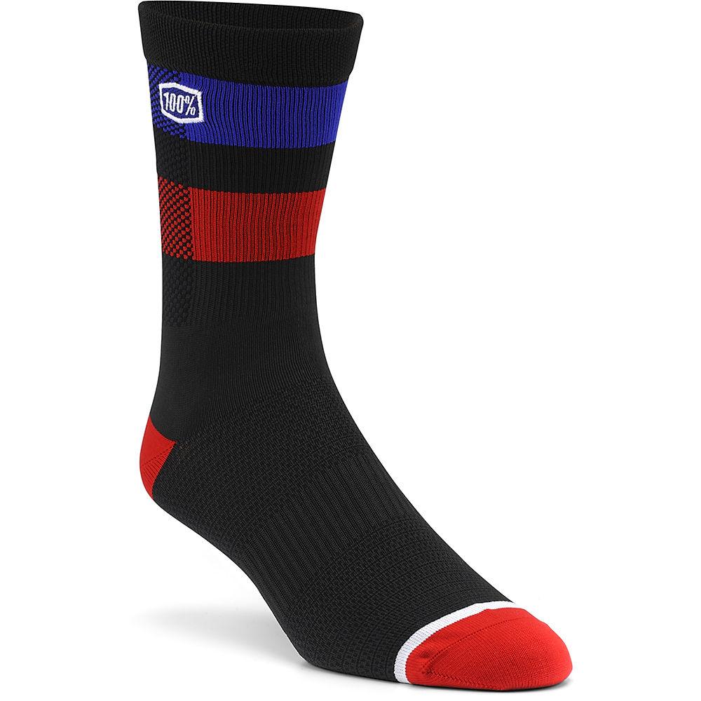 100% Flow Performance Socks - Black - S/M, Black