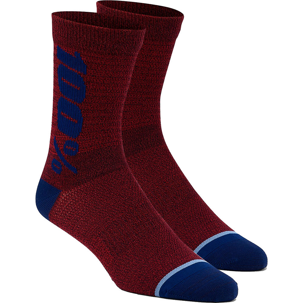 100% Rythym Merino Performance Socks - Brick - L/xl/xxl  Brick