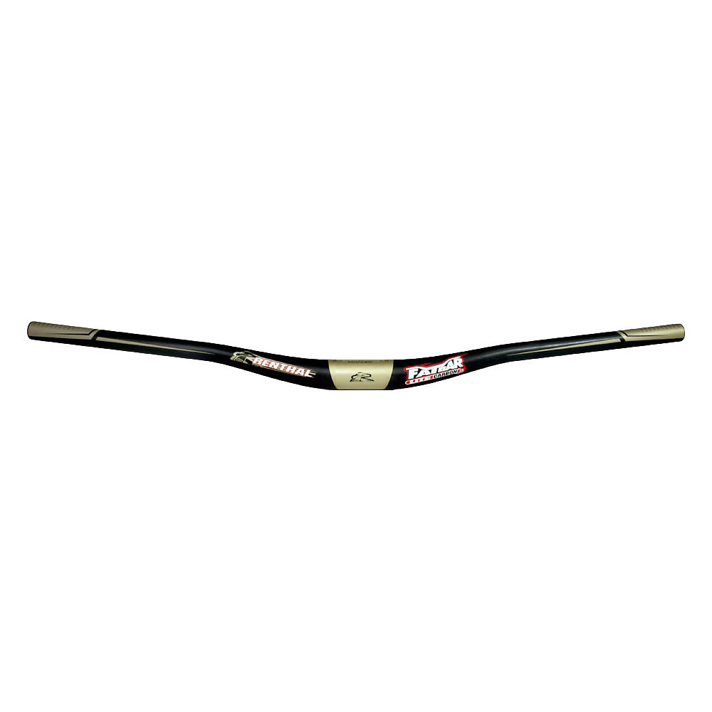 Image of Cintre Renthal Fatbar Lite Carbon 35 - Noir - Or - 35.0mm